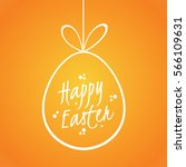 easter card with a bright... | Shutterstock . vector #566109631