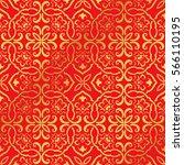 seamless golden chinese...   Shutterstock .eps vector #566110195