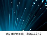 abstract style of blue fibre... | Shutterstock . vector #56611342