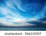 blue sky with clouds over the... | Shutterstock . vector #566119357