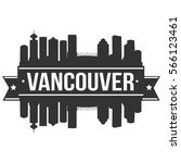 Stock vector vancouver skyline stamp silhouette city vector design 566123461