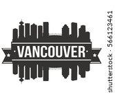 vancouver skyline stamp... | Shutterstock .eps vector #566123461