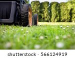 mowing the lawn. detail motor... | Shutterstock . vector #566124919