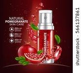 pomegranate moisture essence... | Shutterstock .eps vector #566137861