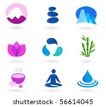 vector set of 9 graphic design... | Shutterstock .eps vector #56614045