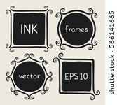 frames with whimsical swashes.... | Shutterstock .eps vector #566141665