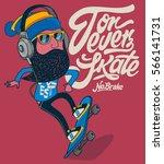 hipster  skater vector design | Shutterstock .eps vector #566141731
