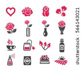 rose icon | Shutterstock .eps vector #566143021