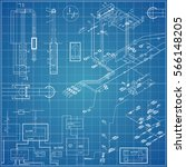 vector blueprint with electrical | Shutterstock .eps vector #566148205