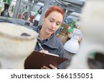 mechanical engineer taking...   Shutterstock . vector #566155051