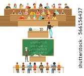 university education  students... | Shutterstock .eps vector #566156437