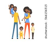 big family with parents and... | Shutterstock .eps vector #566156515