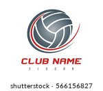 volleyball logo   Shutterstock .eps vector #566156827