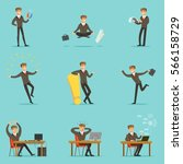 businessman work process series ... | Shutterstock .eps vector #566158729