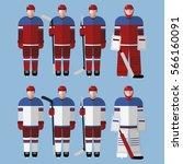 flat icons men's ice hockey...   Shutterstock .eps vector #566160091