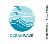 abstract design of ocean logo... | Shutterstock .eps vector #566165089