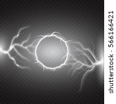 lightning vector round text... | Shutterstock .eps vector #566166421