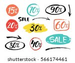 set of colorful vector hand... | Shutterstock .eps vector #566174461