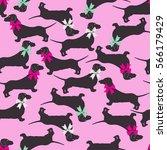seamless pattern on a pink...   Shutterstock .eps vector #566179429