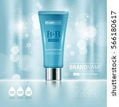 facial cream tube container... | Shutterstock .eps vector #566180617