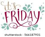 it s friday. brush hand... | Shutterstock .eps vector #566187931