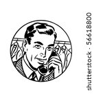 it's easiest by phone  2  ...   Shutterstock .eps vector #56618800
