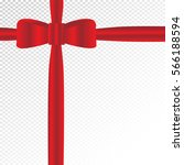 red bow and ribbons on a... | Shutterstock .eps vector #566188594