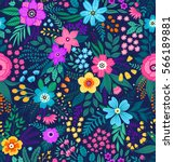 amazing floral pattern with... | Shutterstock .eps vector #566189881