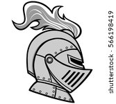 knight helmet illustration | Shutterstock .eps vector #566198419