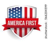 america first shield with usa... | Shutterstock .eps vector #566204599