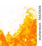 fire flameon white background | Shutterstock . vector #56620636