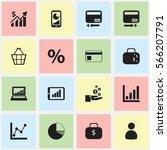 set of 16 editable statistic... | Shutterstock .eps vector #566207791