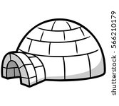 igloo illustration | Shutterstock .eps vector #566210179