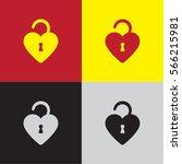 heart padlock icon | Shutterstock .eps vector #566215981