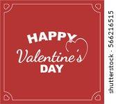 happy valentine's day card   Shutterstock .eps vector #566216515