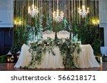 wedding restaurant decor   Shutterstock . vector #566218171