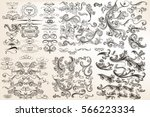 huge mega collection of vector... | Shutterstock .eps vector #566223334