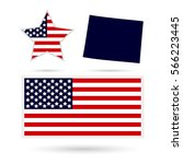 u.s. state on the u.s. map... | Shutterstock .eps vector #566223445