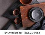 set of kitchenware on grey