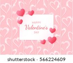 happy valentine's day. greeting ... | Shutterstock .eps vector #566224609