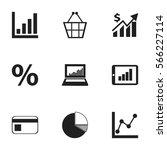 set of 9 editable statistic...