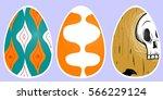 easter eggs | Shutterstock . vector #566229124