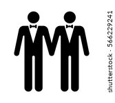 gay marriage with two... | Shutterstock .eps vector #566229241