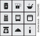 set of 9  kitchen icons....
