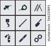 set of 9  apparatus icons....