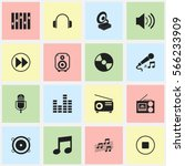 set of 16  audio icons....