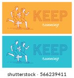 two horizontal motivational... | Shutterstock .eps vector #566239411