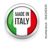made in italy button | Shutterstock .eps vector #566240335