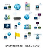 internet icons   Shutterstock .eps vector #56624149