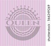 Queen Pink Emblem. Retro